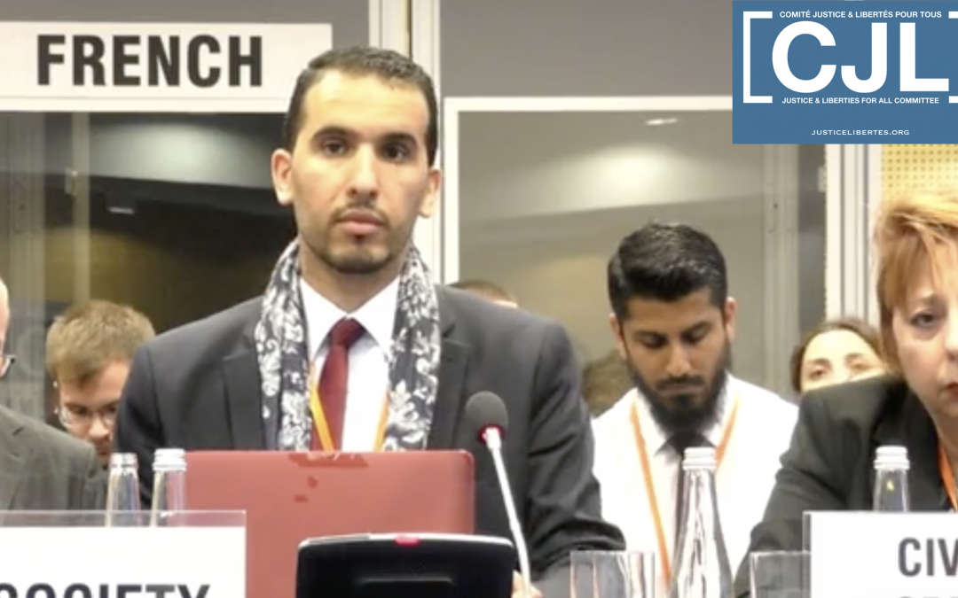 """The French State Must Stop Subsidizing Racism"" Yasser Louati at the OSCE"