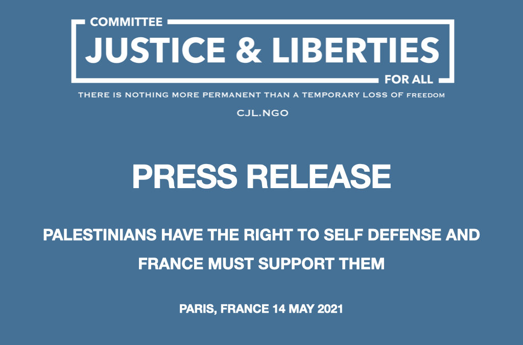 PALESTINIANS HAVE THE RIGHT TO SELF DEFENSE AND FRANCE MUST SUPPORT THEM